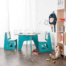 Столик дитячий, меблі SPORTMORE, натуральне дерево, фанера від виробника, фото 3