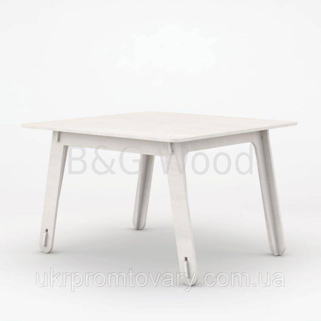 Столик детский Square #2, мебель SPORTMORE, натуральное дерево, фанера от производителя