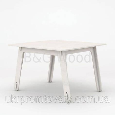 Столик детский Square #2, мебель SPORTMORE, натуральное дерево, фанера от производителя, фото 2
