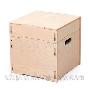 Ящик для зберігання речей одинарний, меблі SPORTMORE, натуральне дерево, фанера від виробника, фото 2
