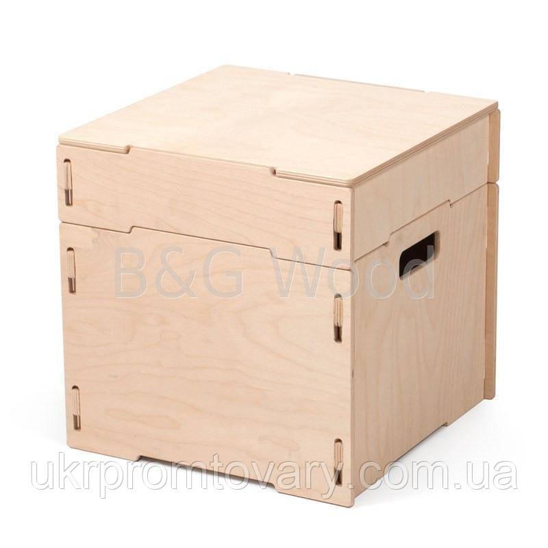 Ящик для зберігання речей одинарний, меблі SPORTMORE, натуральне дерево, фанера від виробника