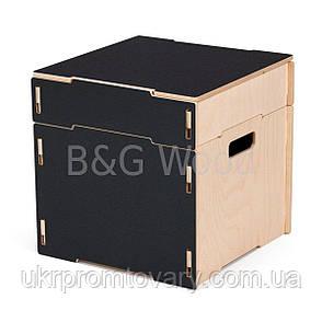 Ящик для хранения вещей одинарный, мебель SPORTMORE, натуральное дерево, фанера от производителя, фото 2