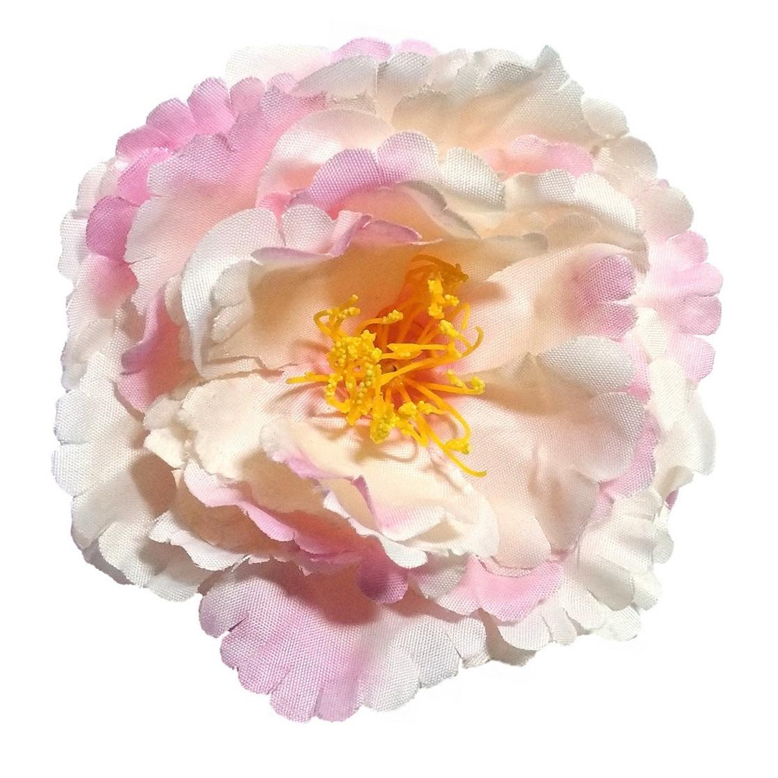 Головка пиона раскрытого  нежно-розовый 12см.