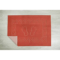 Коврик для ванной Lotus - 45*65 красный прорезиненный