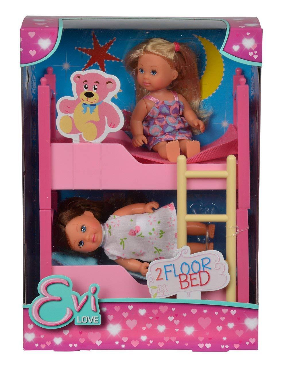 Кукла Еви и двухъярусная кровать Evi Love 2 in 1 Bunk bed with 2 dolls & bedding Simba 5733847