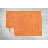 Коврик для ванной Lotus - 45*65 оранжевый прорезиненный