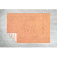 Коврик для ванной Lotus - 45*65 светло-оранжевый прорезиненный