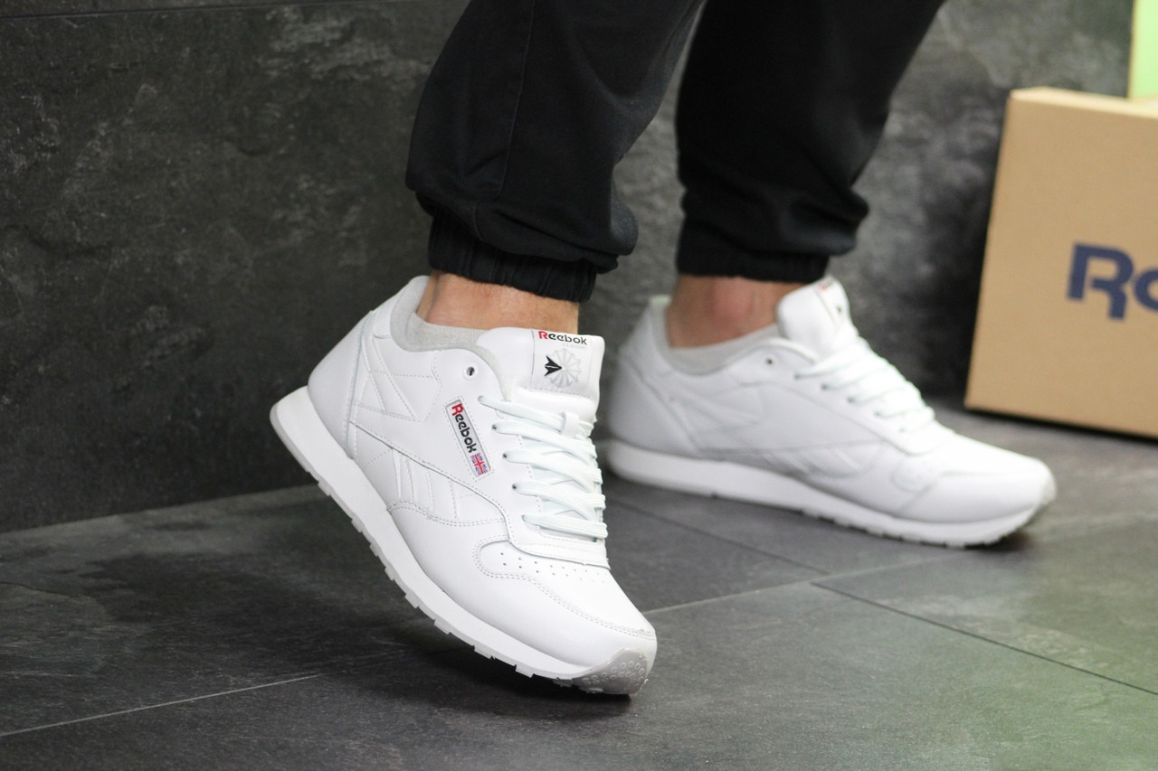 Мужские кроссовки Reebok Classic (белые)