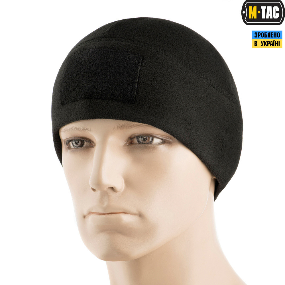 M-Tac шапка Watch Cap Elite фліс (270г/м2) з липучкою Black