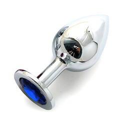 Silver plug large цвет кристалла синий