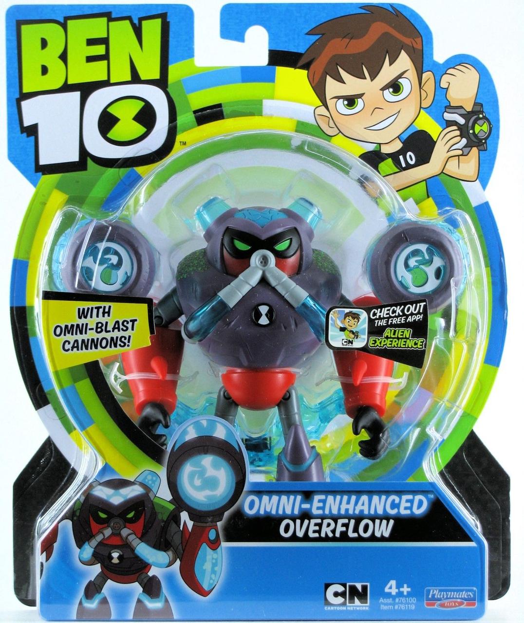 Бен 10 фигурка Водохлёст, омни-усилённый 12,5см Ben 10 Overflow Omni Enhanced, Оригинал из США
