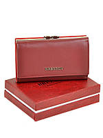 Кошелек Bretton W5520 малый натуральная кожа с монетницей на защелке снаружи 14,5х8,5х3,5см Бордовый, фото 1