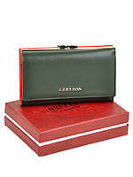 Кошелек Bretton W5520 малый натуральная кожа с монетницей на защелке снаружи 14,5х8,5х3,5см Зеленый, фото 1