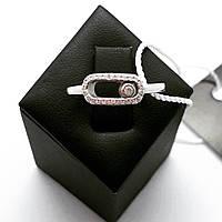 Динамичное кольцо Мої прикраси из серебра в стиле Messika (размер 18, 18.5), фото 1