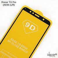 Защитное стекло 2,5D Full Glue для Huawei Honor 7A Pro (AUM-L29) (black) (клеится всей поверхностью)