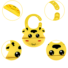 Слюнявчик силиконовый Zupo Crafts желтый