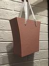 Картонна сумка під квіти з ручками 200/150*75*200 мм Рожевий блиск, фото 2