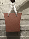 Картонна сумка під квіти з ручками 200/150*75*200 мм Рожевий блиск, фото 4