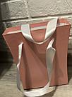 Картонна сумка під квіти з ручками 200/150*75*200 мм Рожевий блиск, фото 5