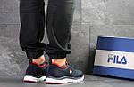 Мужские кроссовки Fila (темно-синие с белым), фото 2