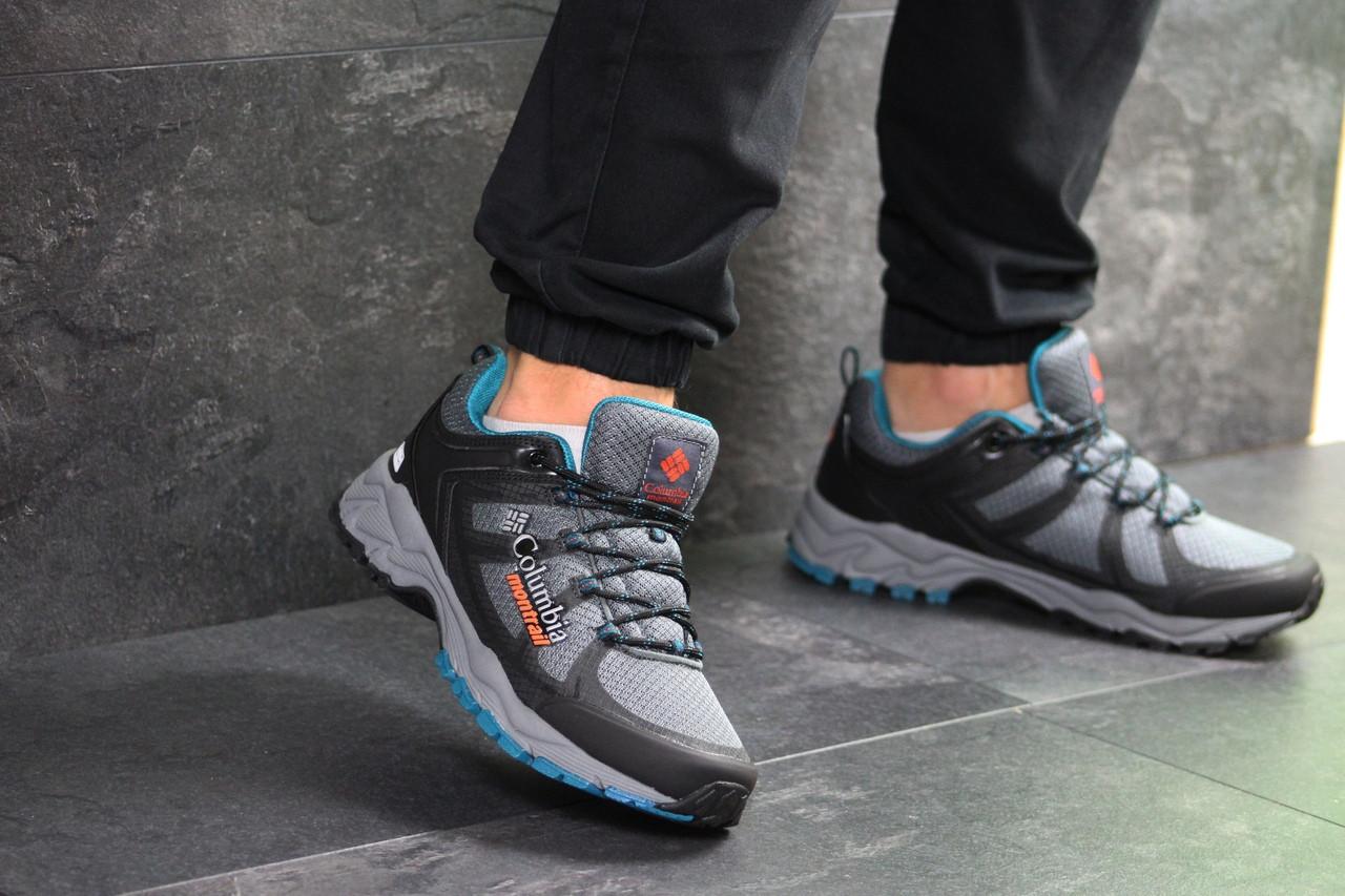 Мужские кроссовки Columbia Montrail (серо-голубые)