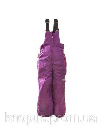 Зимние лыжные термоштаны для девочки сиреневые, Pidilidi, размеры 134, 140