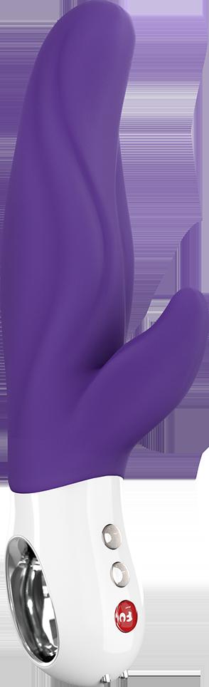 Вибратор со стимуляцией точки G и клитора Fun Factory LADY BI фиолетовый
