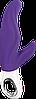 Вибратор со стимуляцией точки G и клитора Fun Factory LADY BI фиолетовый, фото 3