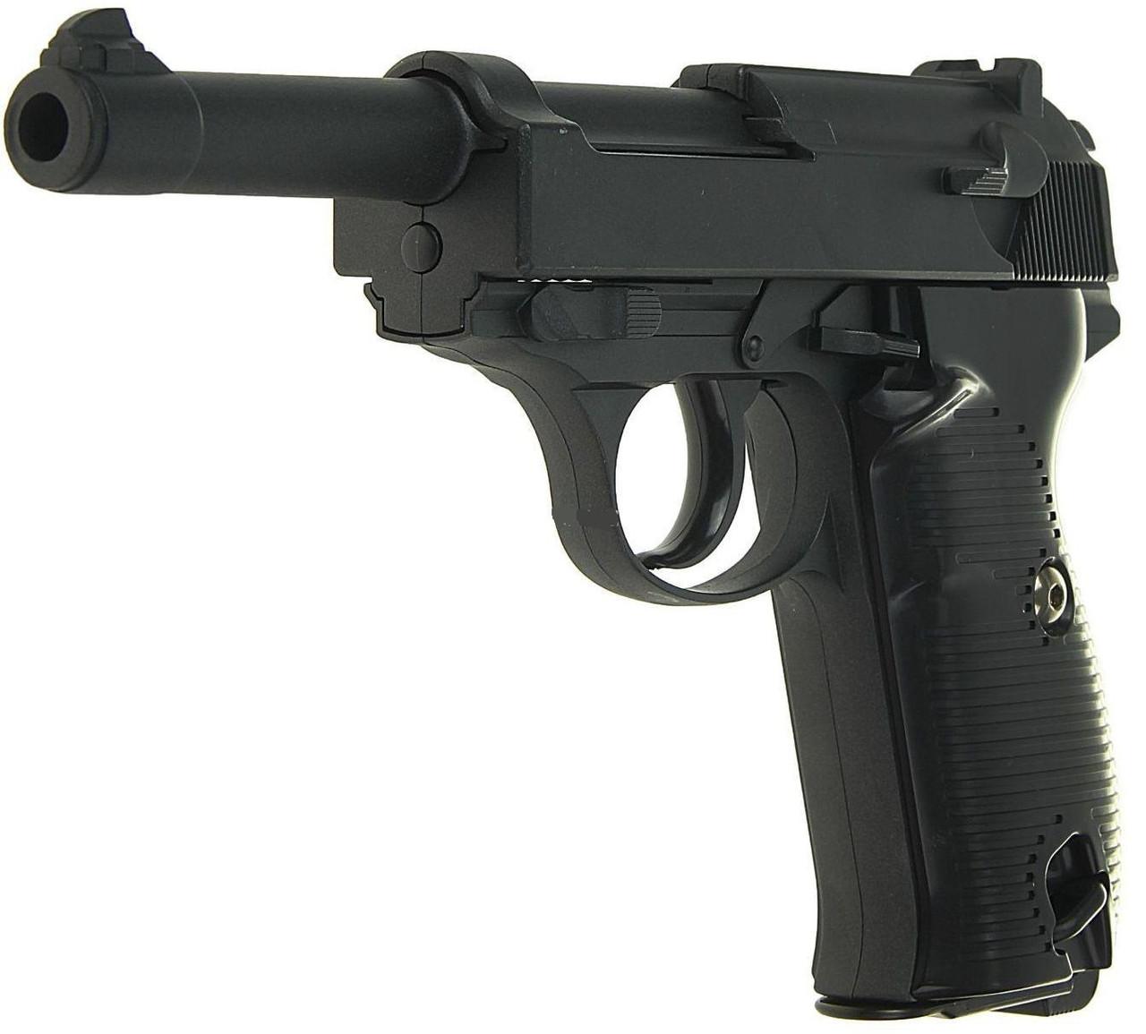 Спринговый металлический пистолет G21 (Walther P38), Вальтер, страйкбол, пистолеты на пульках