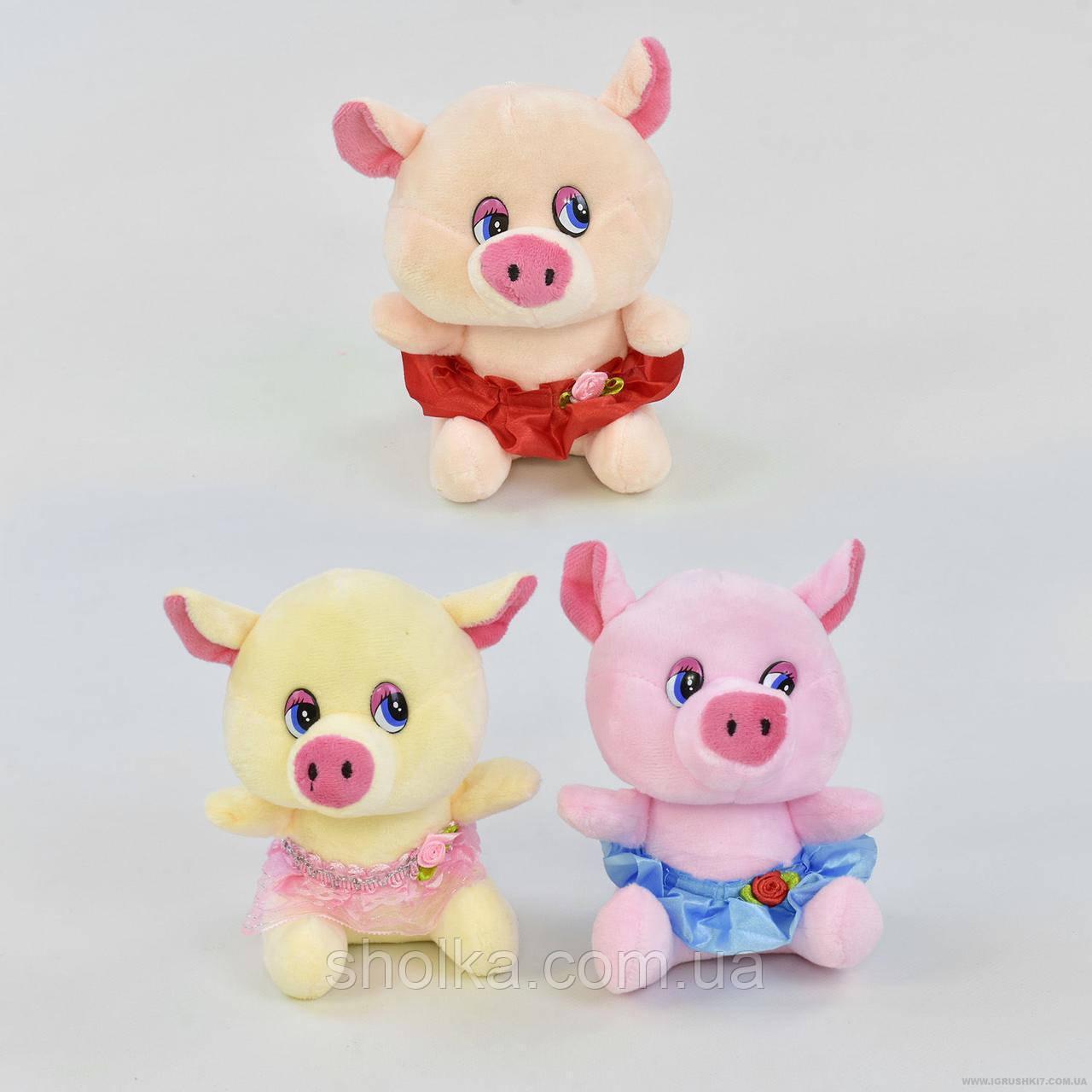 Мягкая игрушка Свинка С 31168 (240) высота 15см, 3 цвета РАСПРОДАЖА!!!
