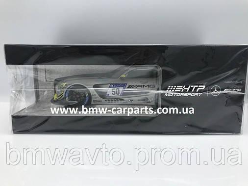 Модель Mercedes-AMG GT3, HTP Motorsport Team, Silver, 1:18 Scale, фото 2