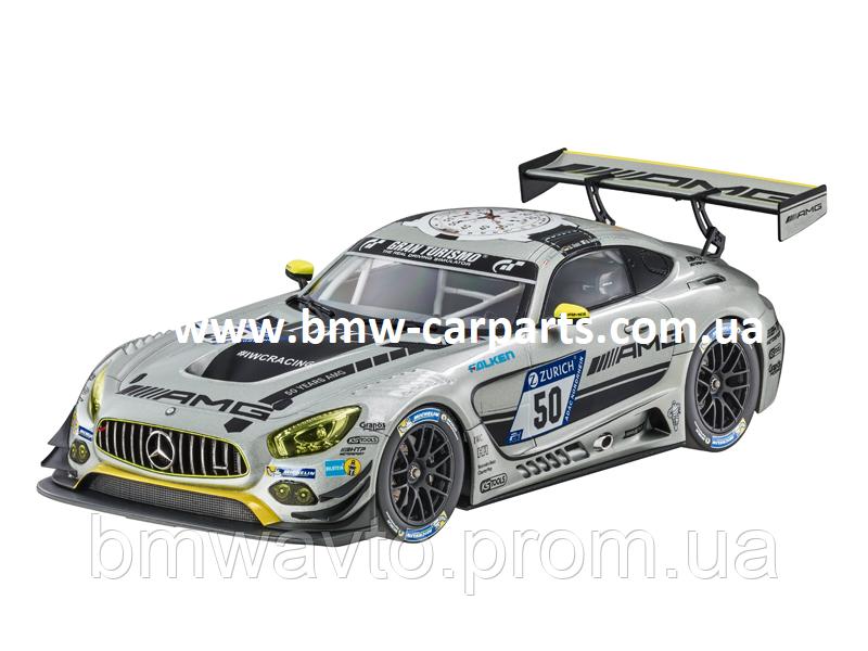 Модель Mercedes-AMG GT3, HTP Motorsport Team, Silver, 1:18 Scale