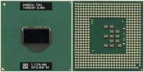 Процессор Intel Pentium M715 тактовая частота 1,5 ГГц, 2 МБ кэш-памяти, частота 400 МГц