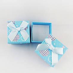Подарочная коробочка Сердечки, цвет голубой