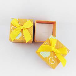 Подарочная коробочка Сердечки цвет оранжевый