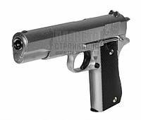 Спринговый металлический пистолет G13S (Colt 1911) с кобурой, Кольт 1911, страйкбол, пистолеты на пульках