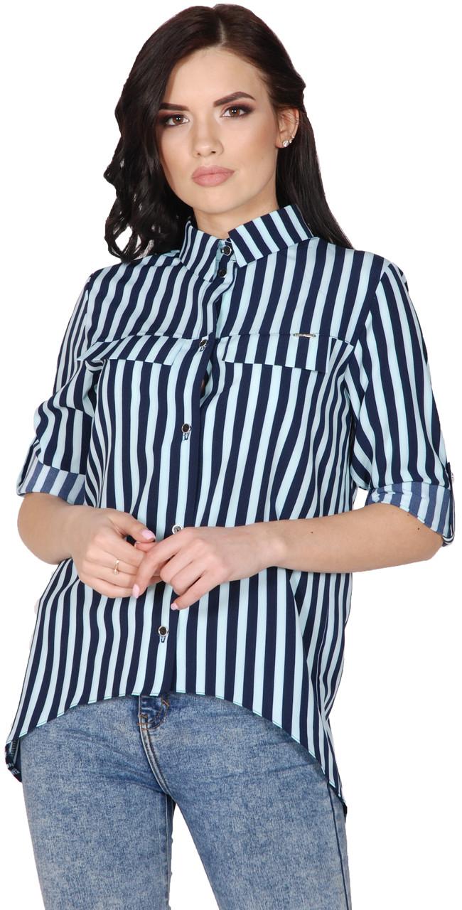 764acec3686 Женская Полосатая Рубашка