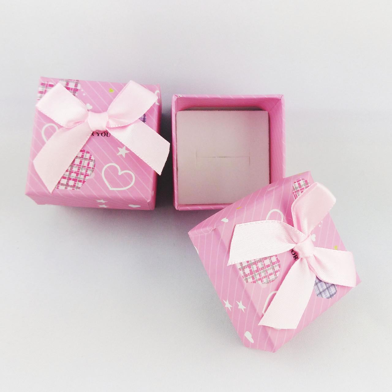 Подарочная коробочка Сердечки цвет розовый