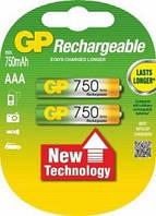 Аккумуляторная батарейка ААА (минипальчиковая) GP 1шт R03 750mA 75AAAHC-UC2