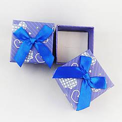 Подарочная коробочка Сердечки цвет фиолетовый