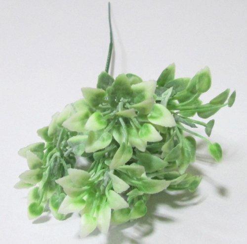 Трава искусственная 21 см, бело-зеленая
