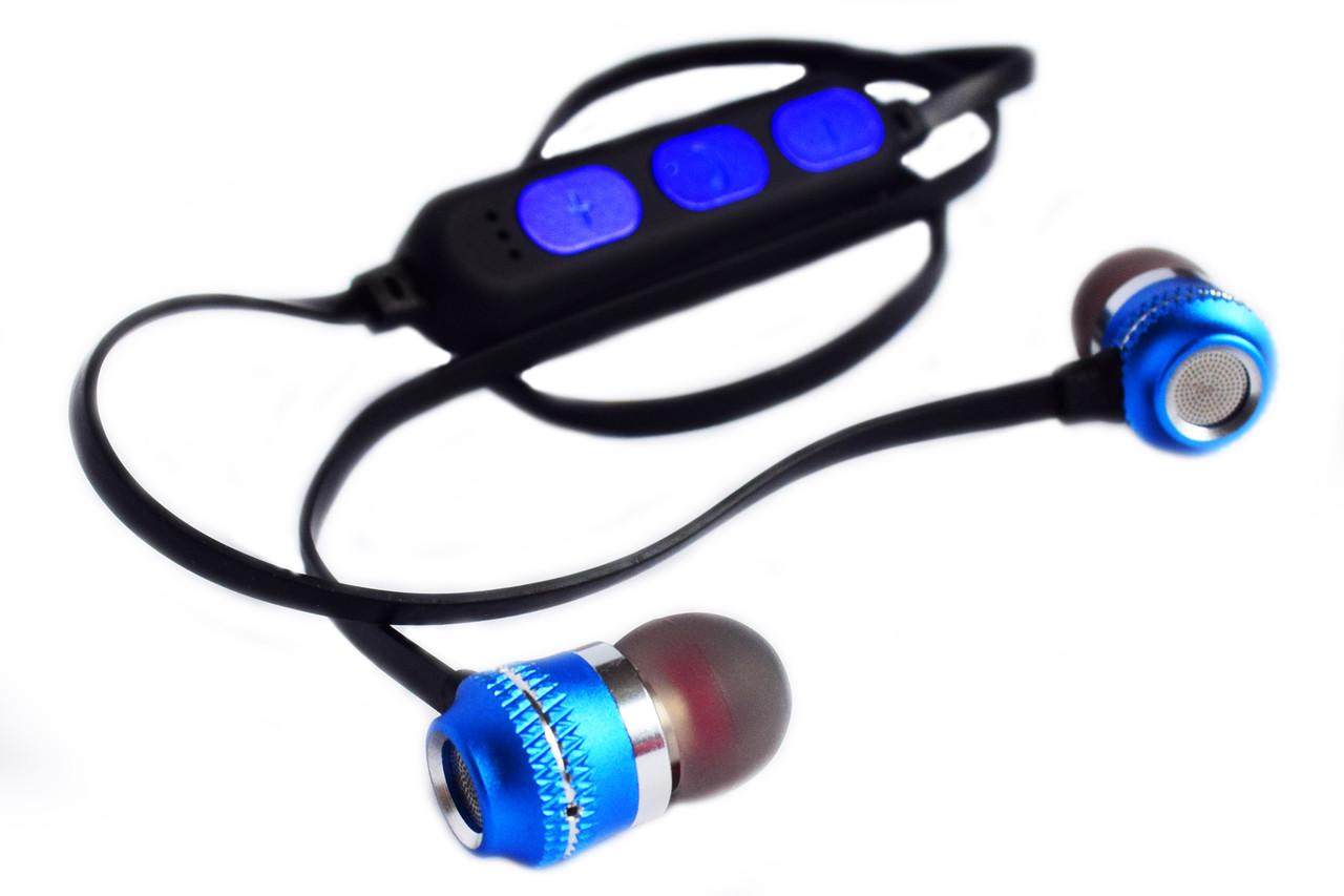 Беспроводные Вluetooth стерео наушники с разъемом micro SD SQ-BT-770 на магнитах