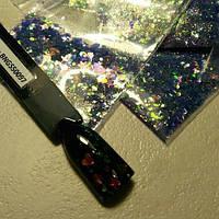 Конфетти микс  №BNGS50097, фиолетовый голографический, фото 1