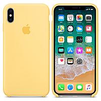 Чехол накладка Silicone Case для iPhone X/Xs Желтый