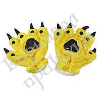 Лапы-перчатки Кигуруми (желтые)