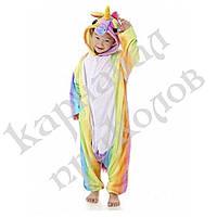 Кигуруми детский Единорог (радужный) 100