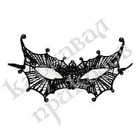Кружевная маска Загадка летучая мышь (черная)