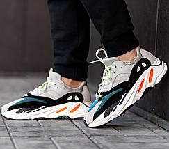 Женские и мужские кроссовки Adidas Yeezy Wave Runner Boost 700 Grey, фото 3