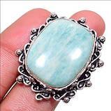 Амазонит кольцо с натуральным амазонитом в серебре 18 размер Индия, фото 5