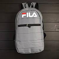 Серый спортивный рюкзак Фила Fila (РЕПЛИКА)